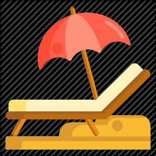 Beach, Beach Chair, Chair, Lounge Chair Icon