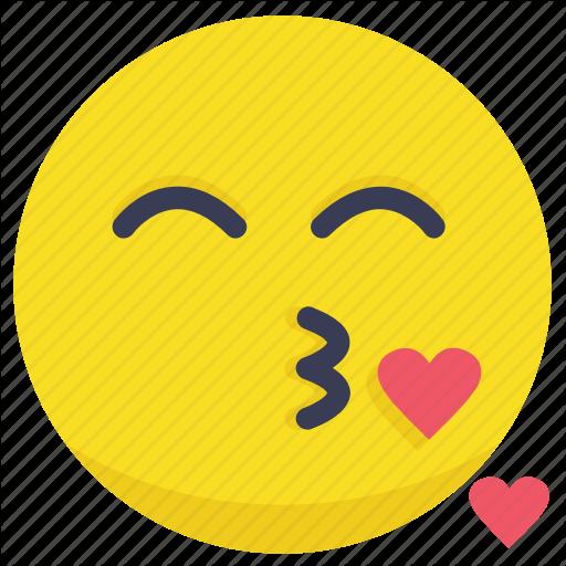 Blow Kiss, Heart, Kiss, Kiss Emoji, Love Icon