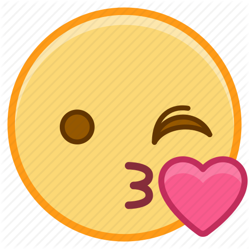 Emoji, Emotion, Face, Heart, Love, Wink Icon