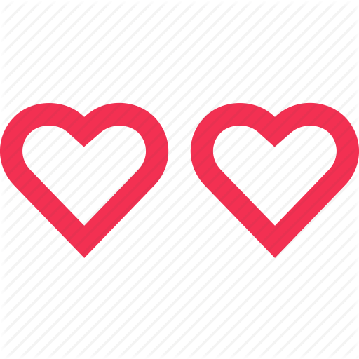 Hearts, Inlove, Love, Messaging, Sms, Text, Two Icon