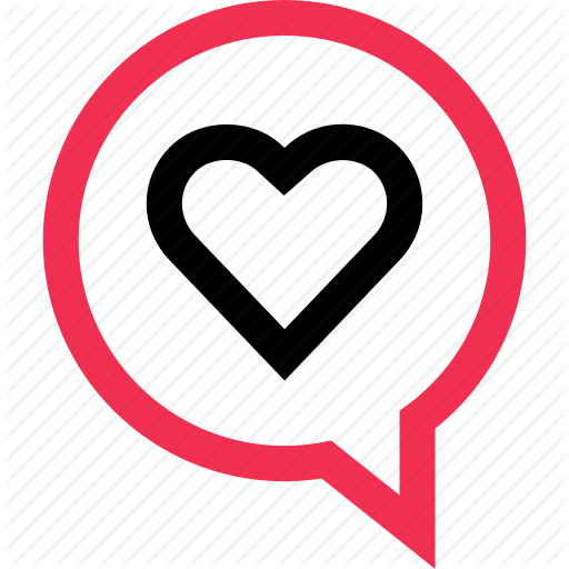 Deep, Heart, Inside, Love, Messaging, Sms, Text Icon Icon Bold