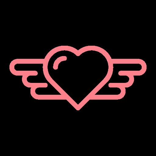 Valentine, Dating, Wedding, Wing, Heart, Love Icon