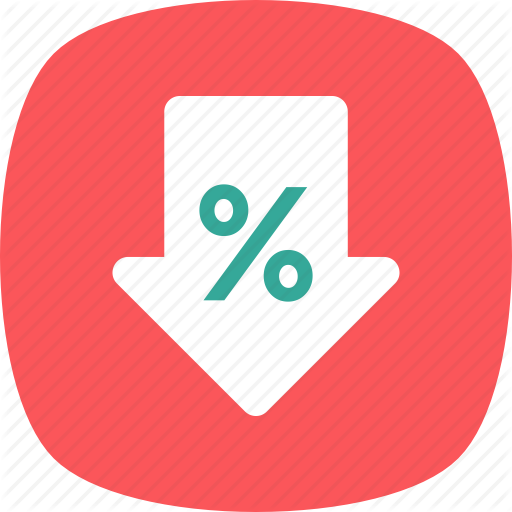 Loss, Low Markup, Percentage, Price Reduced, Reduction Icon