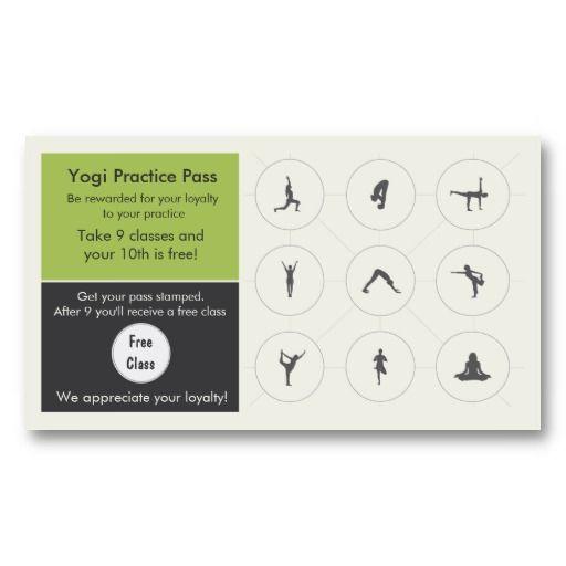 Yoga Class Business Card Loyalty Card Customer