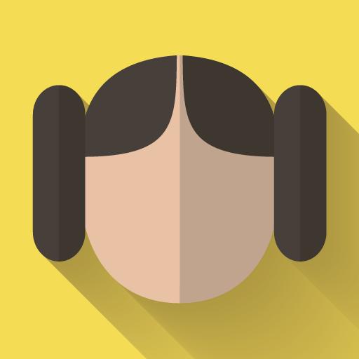 Leia Icon Starwars Longshadow Flat Iconset Creativeflip