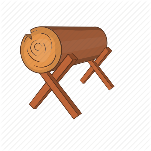 Cartoon, Forest, Log, Lumber, Stand, Timber, Wood Icon