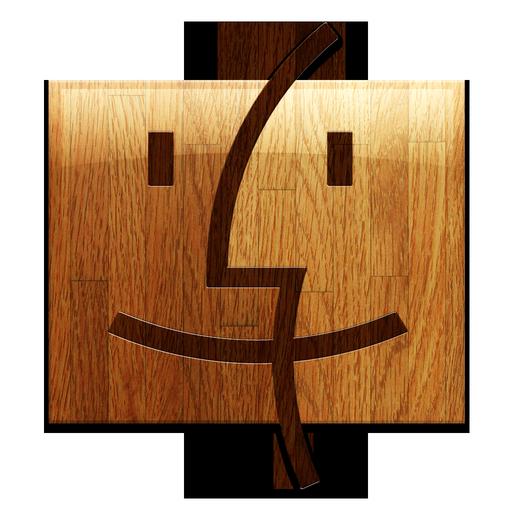 Wooden Finder Icon