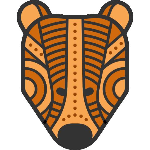 Indigenous, Animals, Lynx, Head, Mammal, Wildlife, Tribal Icon