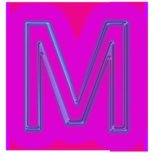 Purple Letter M Icon Png