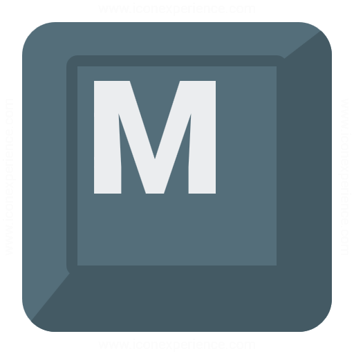 Iconexperience G Collection Keyboard Key M Icon