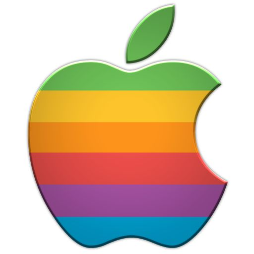 Old Rainbow Apple Logo Dd Rainbow Rainbow Apple Logo, Apple