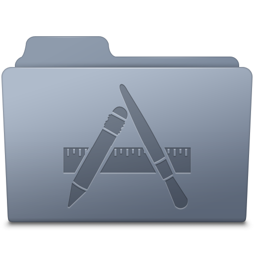 Applications Folder Graphite Icon Smooth Leopard Iconset Mcdo