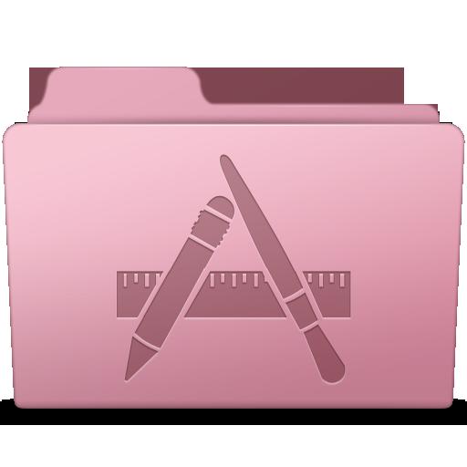 Applications Folder Sakura Icon Smooth Leopard Iconset Mcdo Design