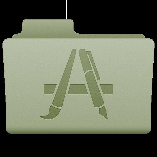 Green Applications Folder Icon