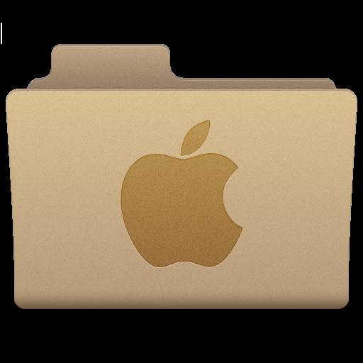 Yellow Apple Folder Icon