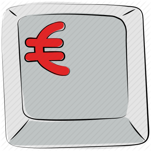 Computer Button, Euro, Euro Button, Euro Sign, Euro Symbol