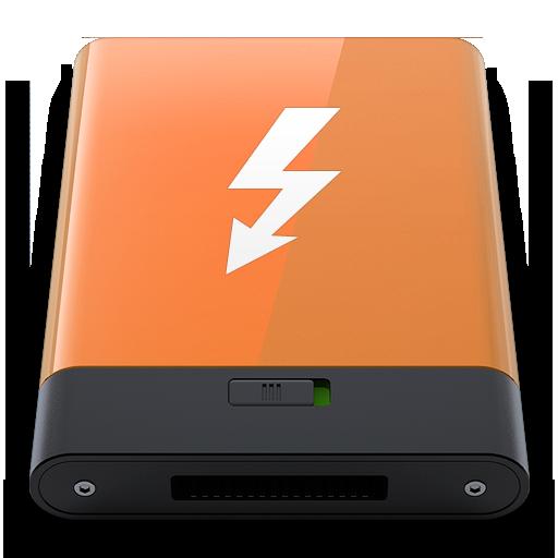 Orange Thunderbolt W Icon