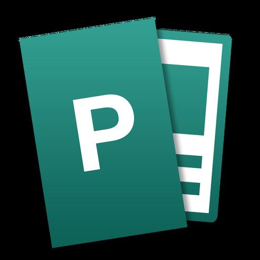 Publisher Icon Microsoft Office Mac Tilt Iconset