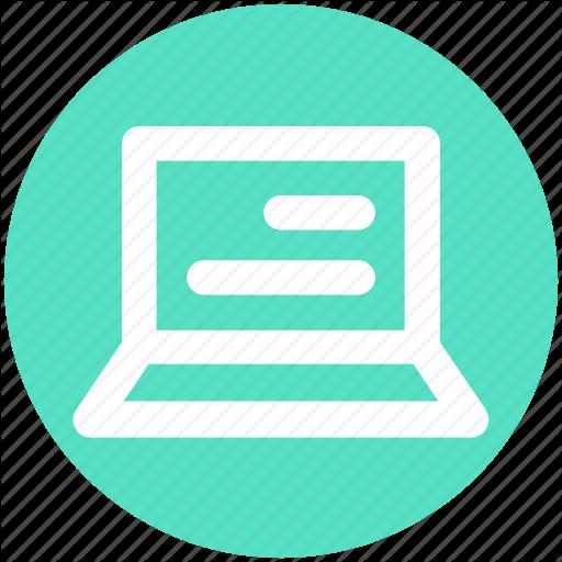 Computer, Laptop, Mac Book, Notebook, Reading, Screen Icon
