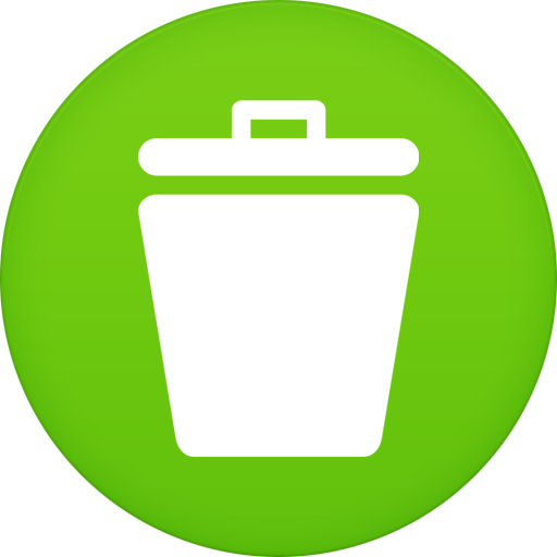 Trash Icon Circle Iconset