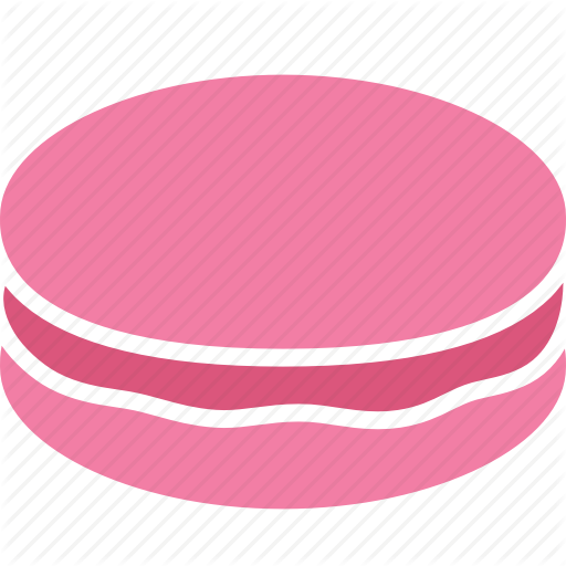 Confection, Dessert, French, Macaron, Macaroon, Pink, Snack Icon