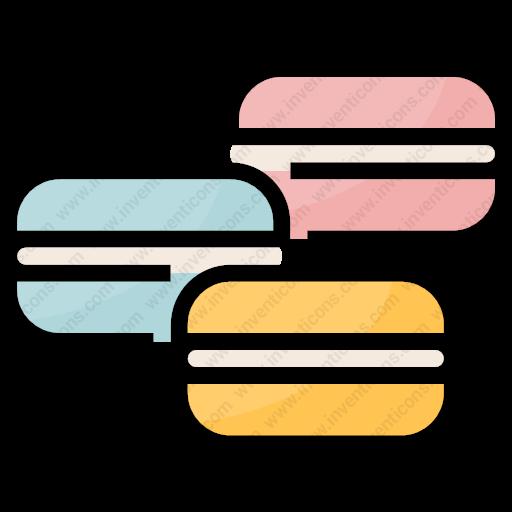 Download Macaron,foodrestaurant,dessert,bakery,food Icon Inventicons