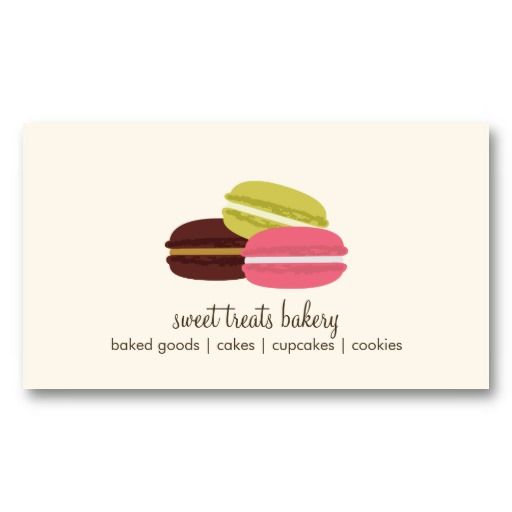 French Macarons Business Card Business Cards