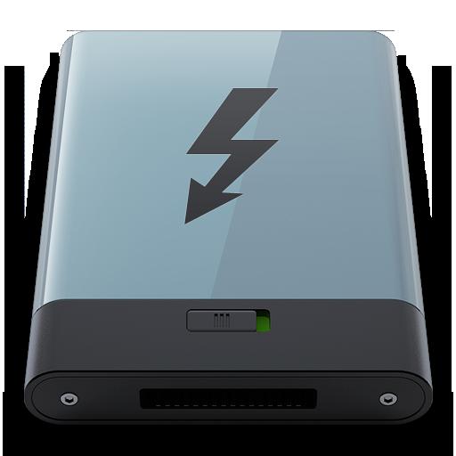 Graphite Thunderbolt B Icon