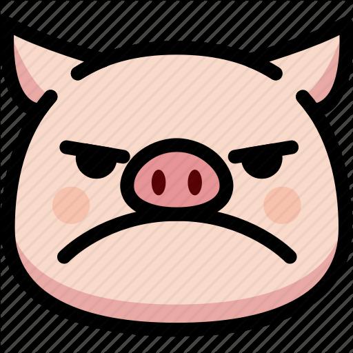 Emoji, Emotion, Expression, Face, Feeling, Mad, Pig Icon