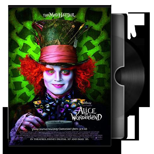 Alice In Wonderland Folder Icon