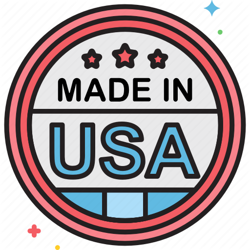 Label, Made In Usa, Sticker Icon