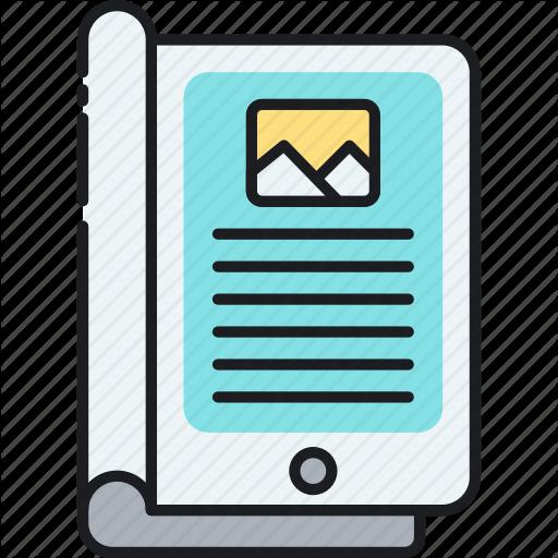 E Magazine, Ebook, Ipad, Magazine, Read, Tablet Icon