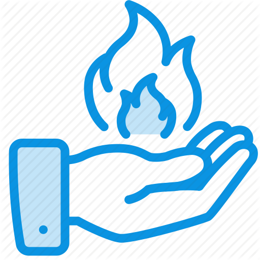 Fire, Hand, Magic Icon