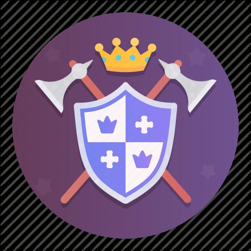 Ax, Emblem, King, Kingdom, Nobleman, Shield, Weapon Icon