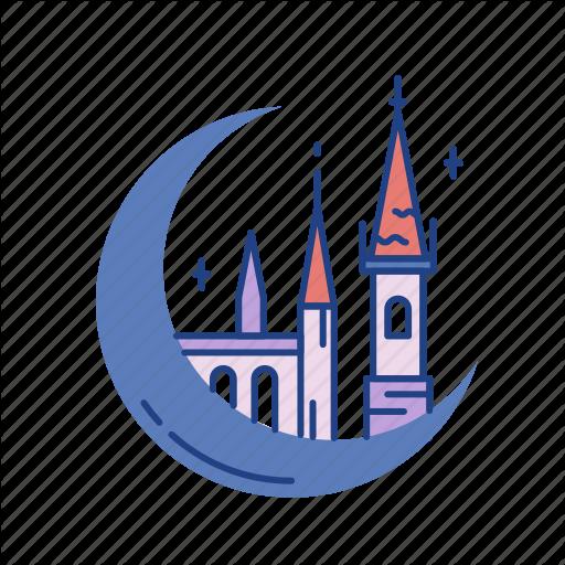 Castle, Fairytale, Fantasy, Kingdom, Medieval, Palace, Tower Icon