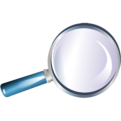 Blue Magnifying Glass Icon Png
