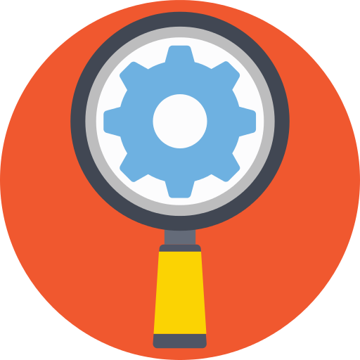 Settings Magnifying Glass Png Icon