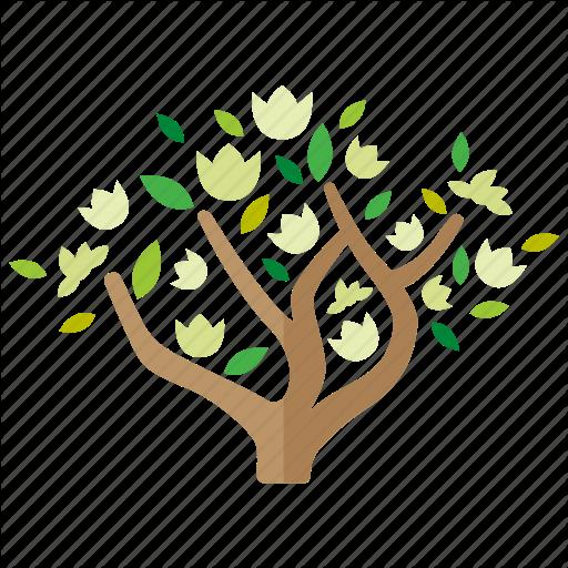 Botany, Branches, Flowering, Foliage, Magnolia, Spring, Tree Icon