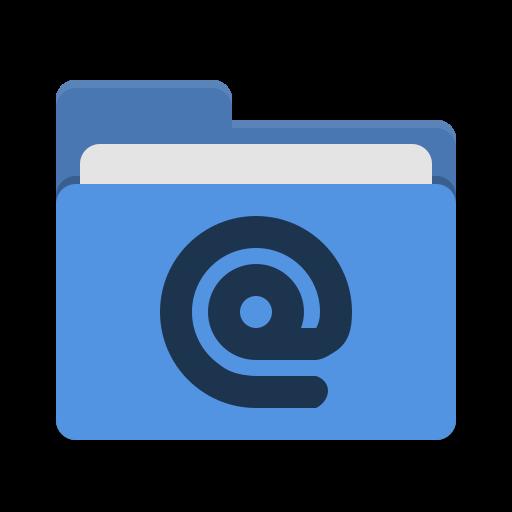 Folder Blue Mail Icon Papirus Places Iconset Papirus