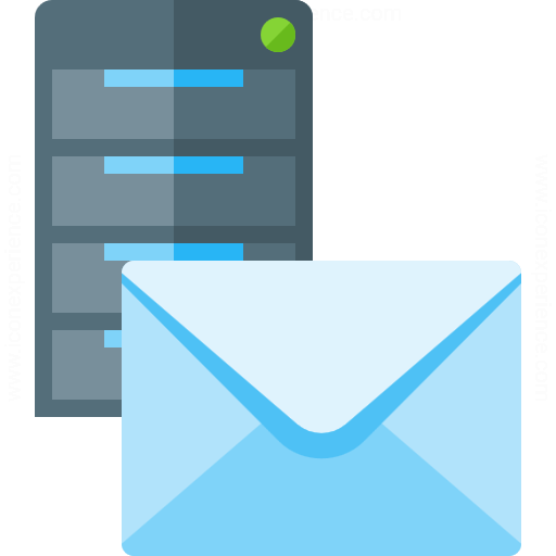 Iconexperience G Collection Server Mail Icon