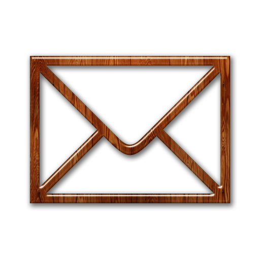 Envelope, Mail, Wood Icon