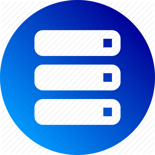 Data Server, Database, Gradient, Hardware, Mainframe Icon