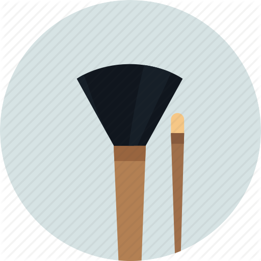 Brushes, Cosmetic, Makeup, Makeup Brush Icon