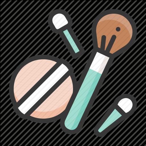 Brush, Cosmetic, Makeup, Powder Brush, Powder Puff Icon