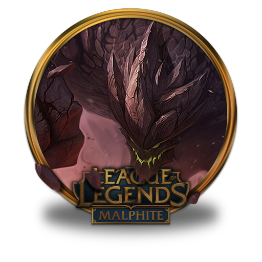 Malphite Icon Free Of League Of Legends Gold Border Icons