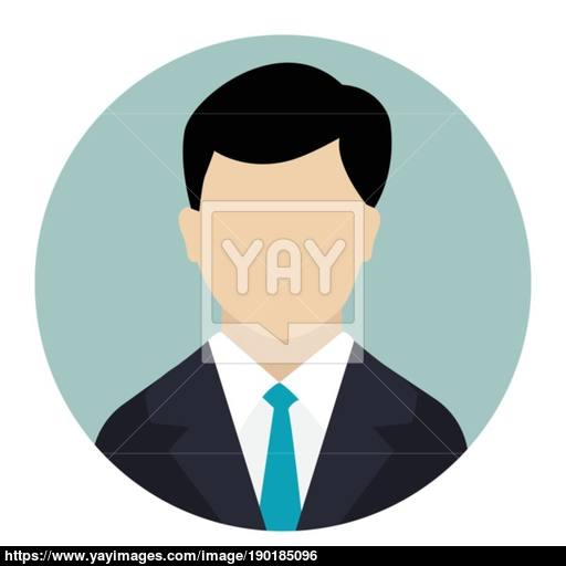 User Icon, Male Avatar In Business Suit Vector Flat Design Vector