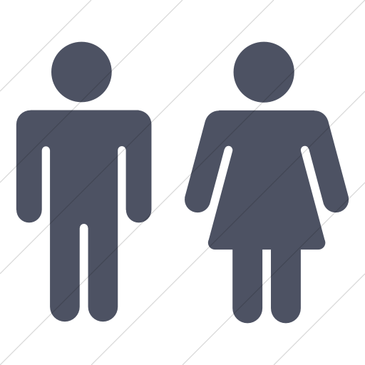 Simple Blue Gray Foundation Male Female Icon