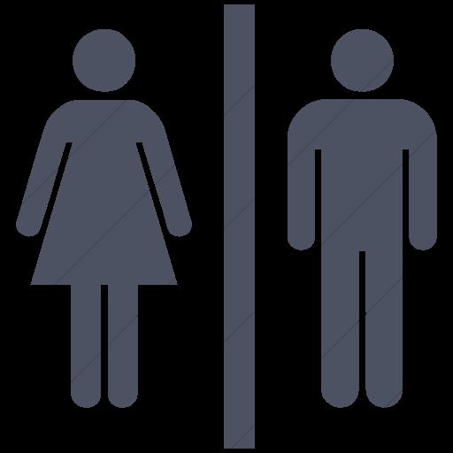 Simple Blue Gray Ocha Humanitarians Wash Toilet Icon