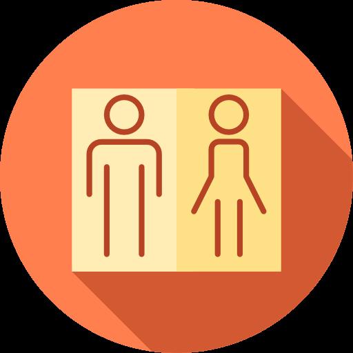 People, Woman, Bathroom, Toilets, Man, Signs, Restroom, Signaling Icon