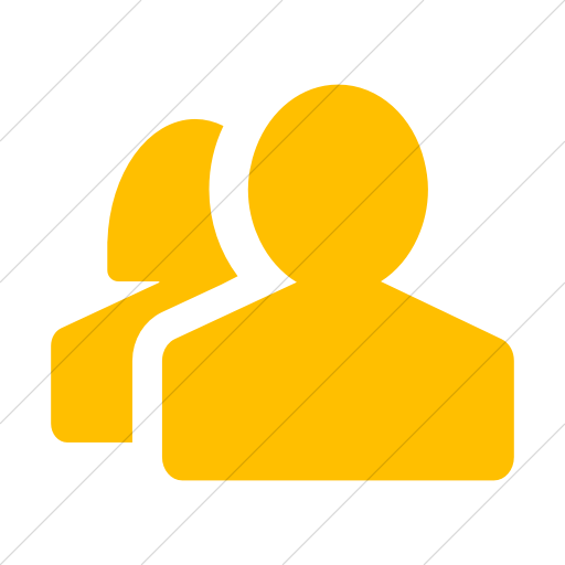 Simple Yellow Foundation Torsos Male Female Icon